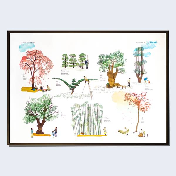 Image of Trees of Japan Print