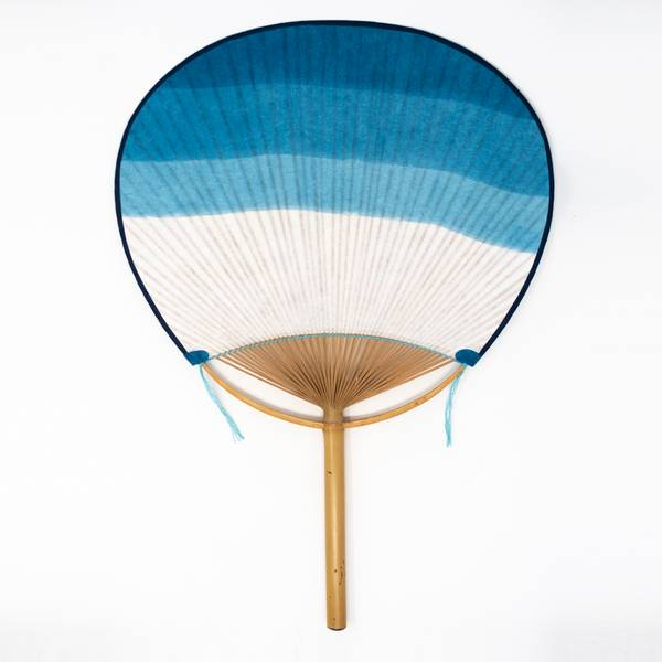Image of Uchiwa Danzome Indigo Fan