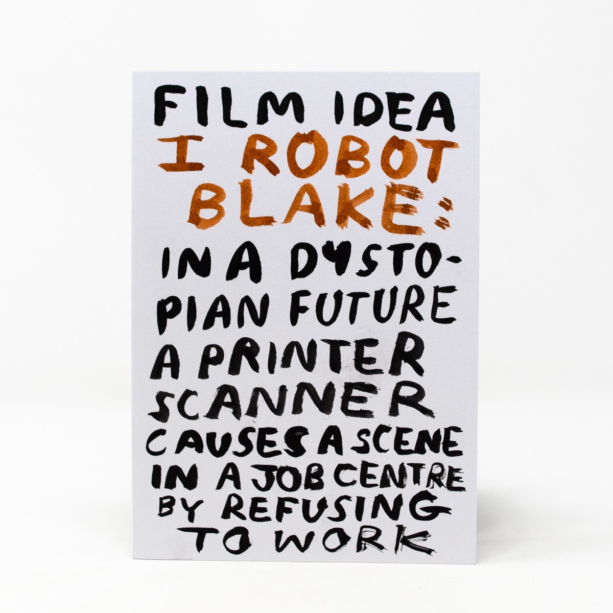 Photo of I Robot Blake Greeting Card