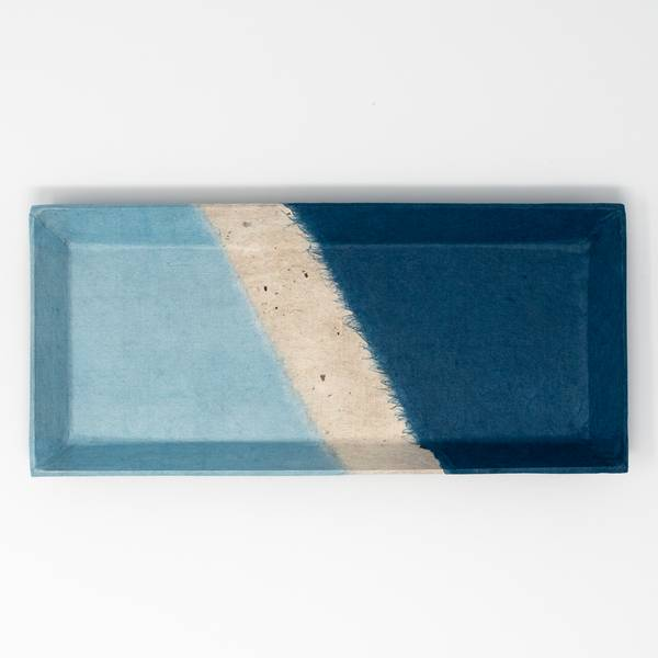 Image of Japanese Indigo Washi Tray