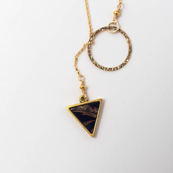 Image of Sakura Gold Lariat Necklace