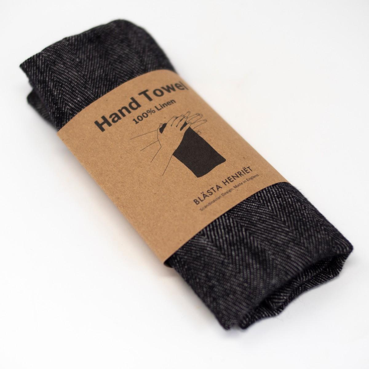 Photo of Herringbone Linen Hand Towel