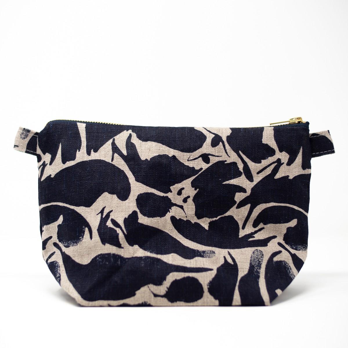 Photo of Indigo Linen Wash Bag Large