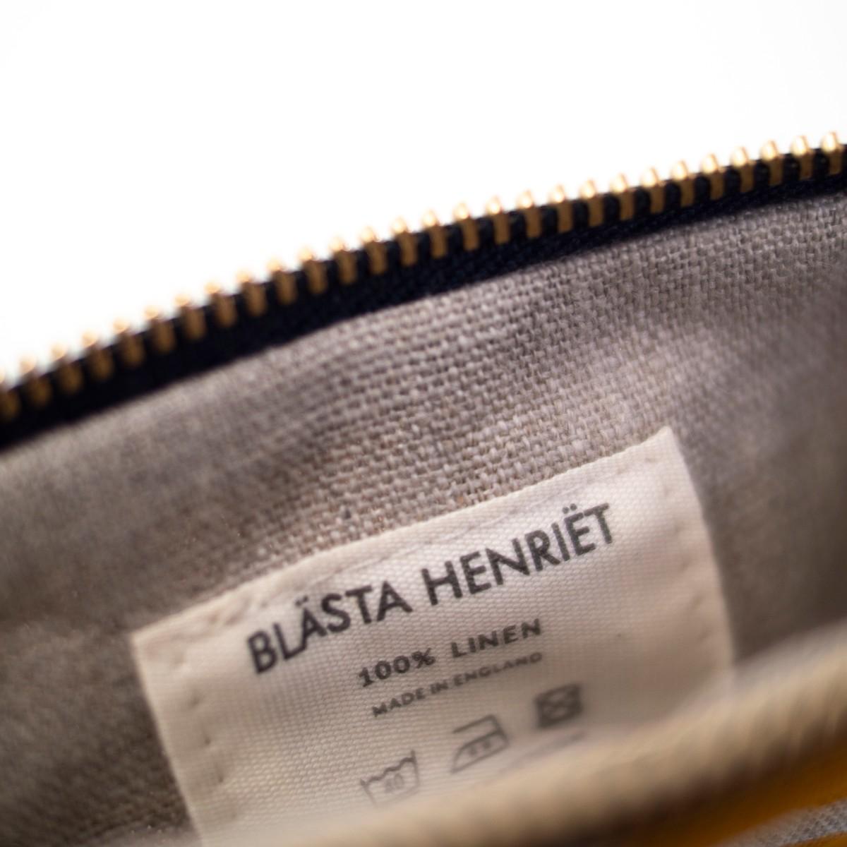 Photo of Mustard Linen Wash Bag Small