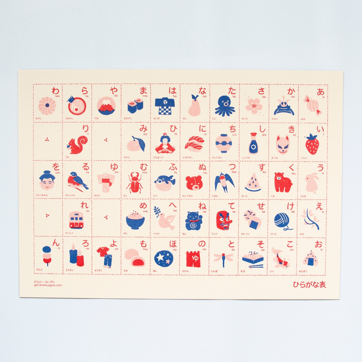 Photo of Hiragana Risograph Print