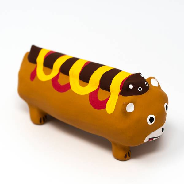 Image of Hot Dog Hariko Ornament