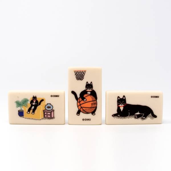 Image of Cat Eraser Set