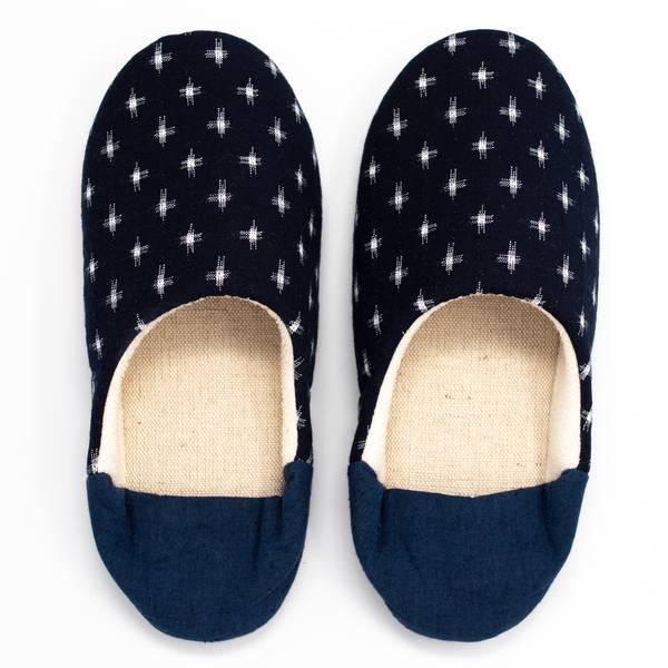 Image of Indigo Kasuri Babouche Slippers