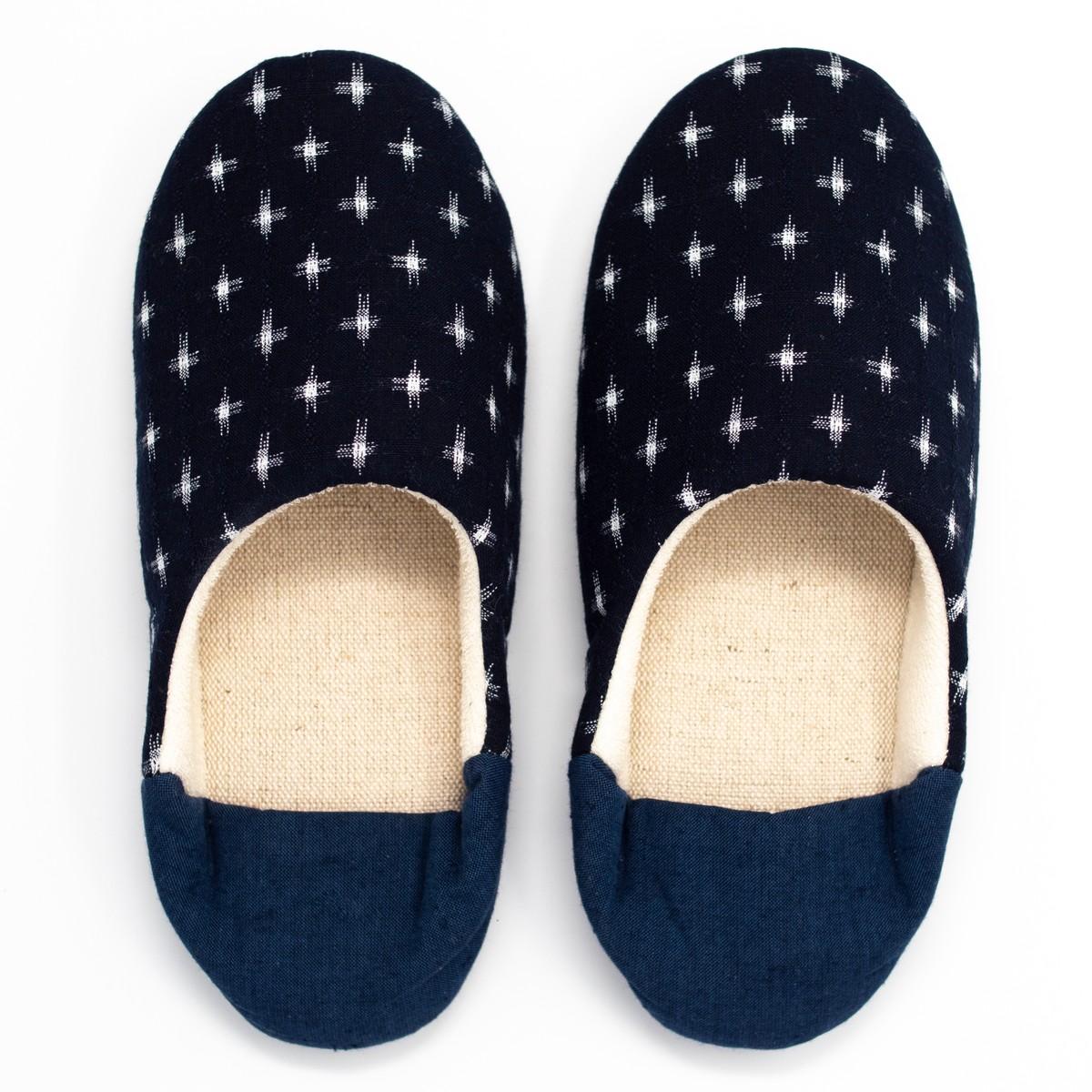 Photo of Indigo Kasuri Babouche Slippers