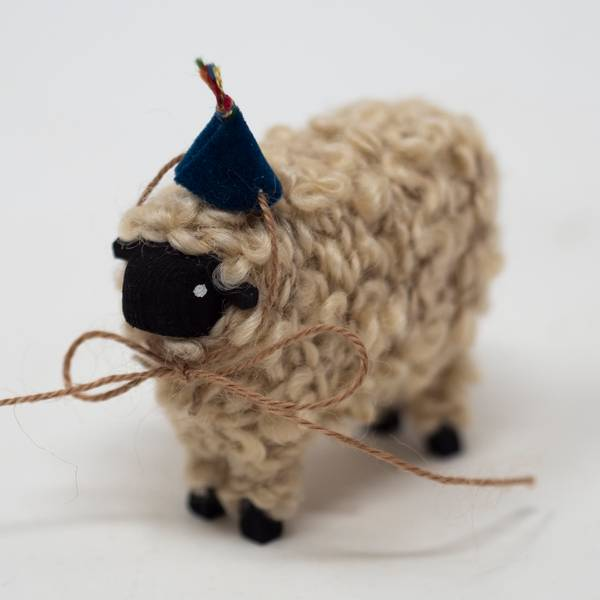 Image of Large Party Black Sheep Figurine