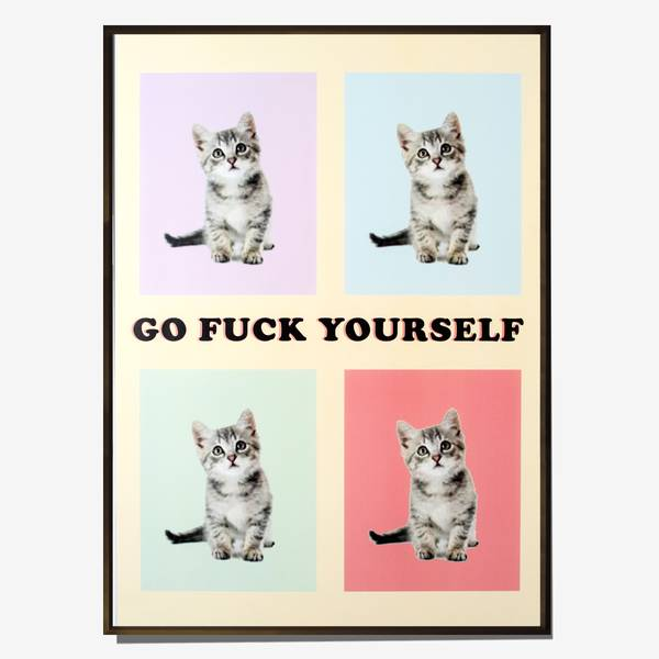 Image of Expletive Kitten Poster