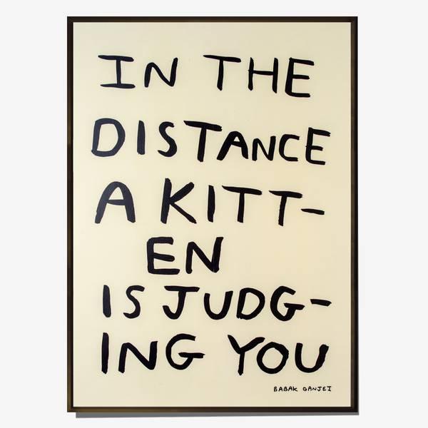 Image of Judging Kitten Poster