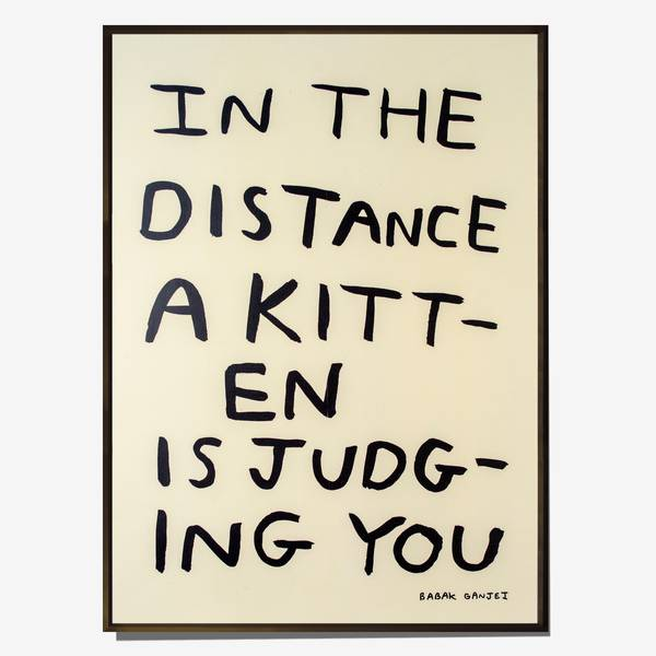 Image of Judging Kitten Poster