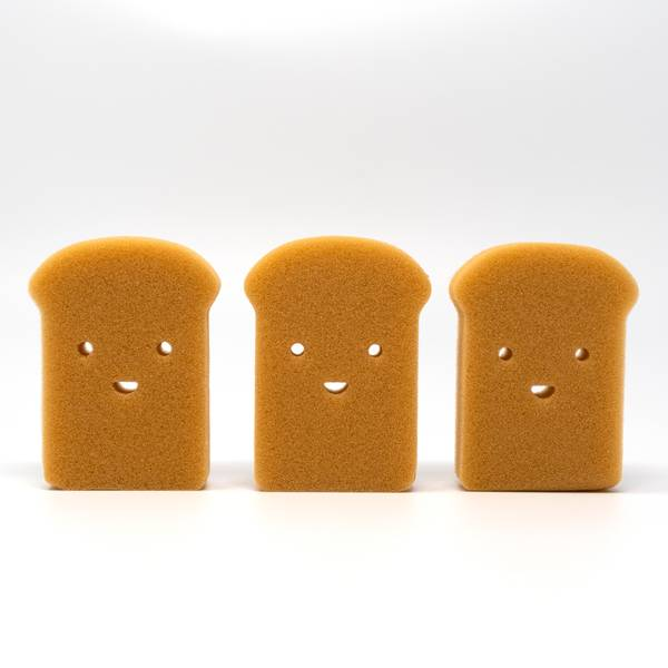 Image of Smiley Toast Sponges: Set of Three