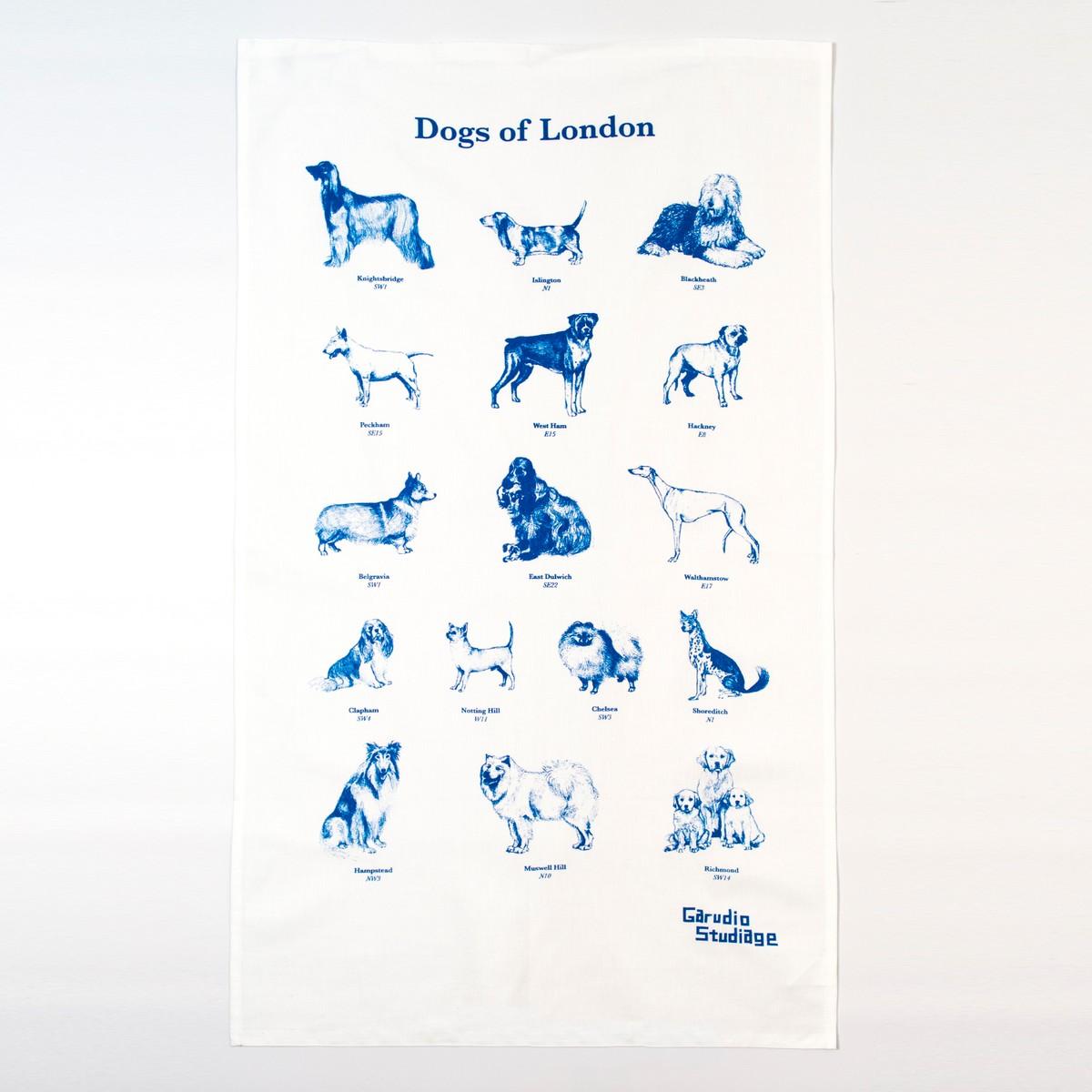 Photo of Dogs of London Tea Towel