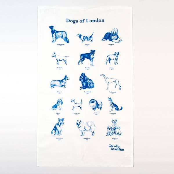 Image of Dogs of London Tea Towel