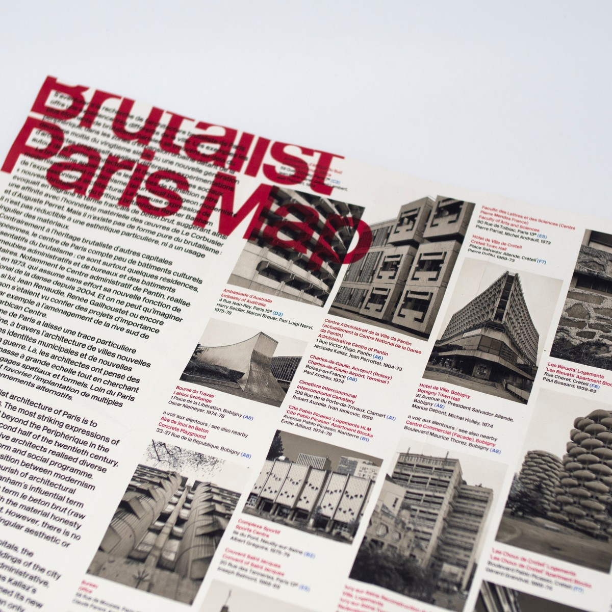 Photo of Brutalist Paris Map