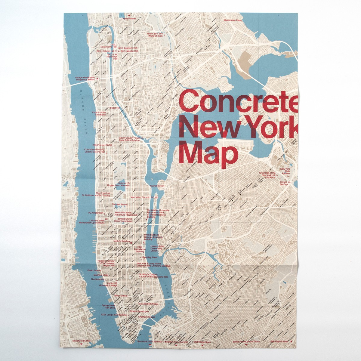 Photo of Concrete New York Map