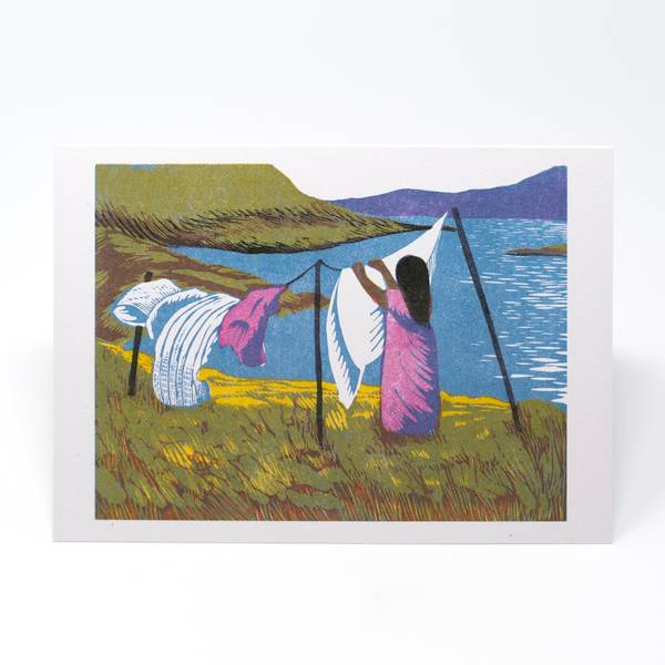 Image of Washing Day Greeting Card