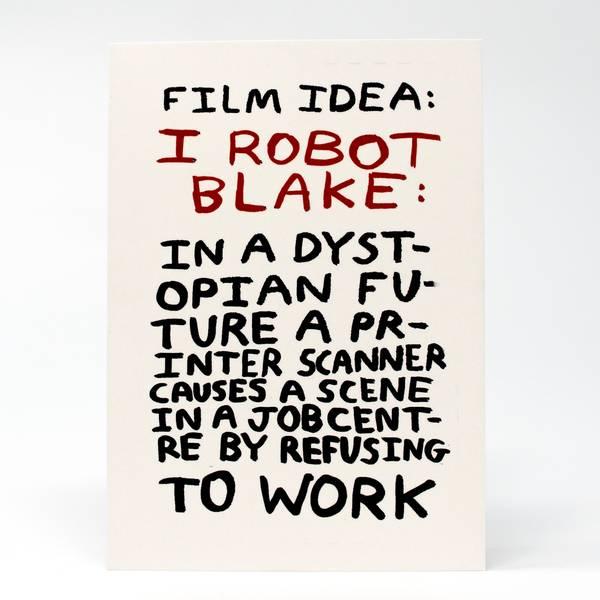 Image of I Robot Blake Greeting Card