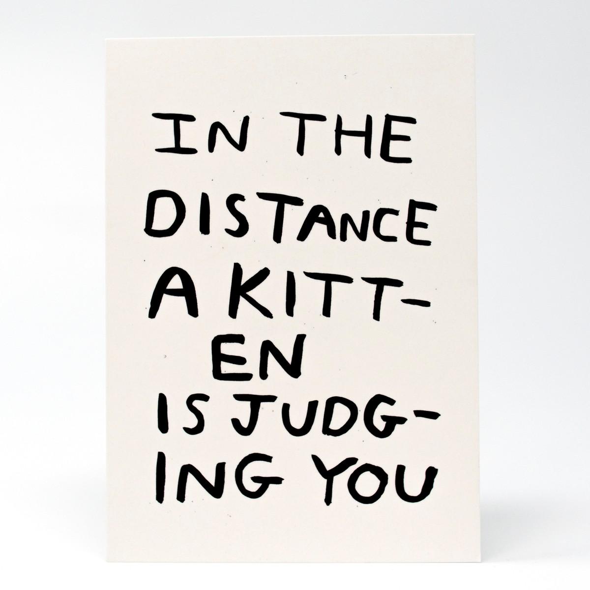 Photo of Judging Kitten Greeting Card
