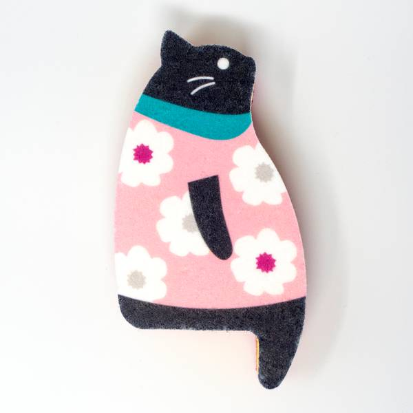Image of Sakura the Cat Kitchen Sponge