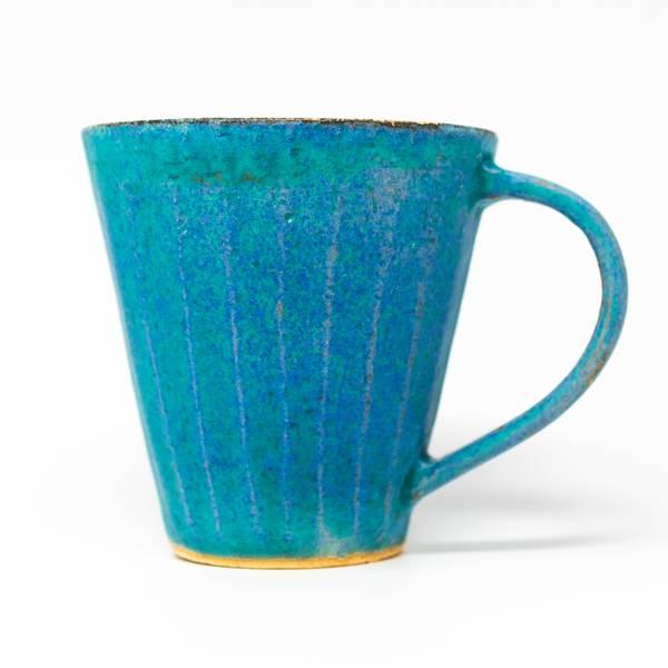 Image of Antique Blue Shinogi Mug