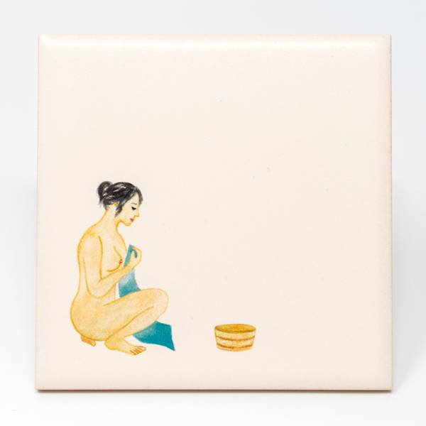 Image of Sentō Bathhouse Tile: Blue