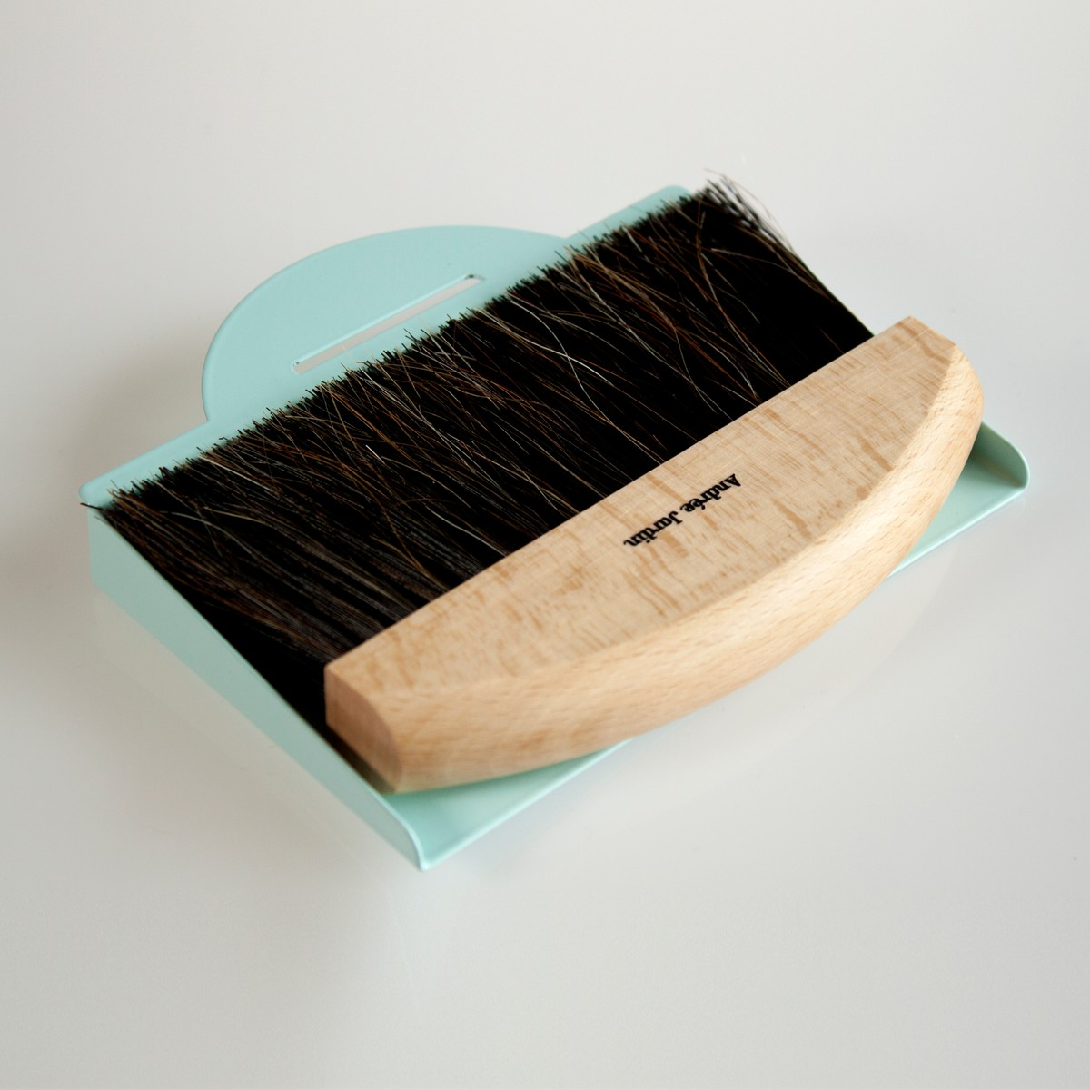 Photo of Blue Tabletop Dustpan and Brush Set