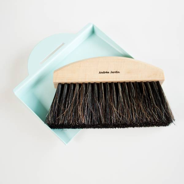 Image of Blue Tabletop Dustpan and Brush Set