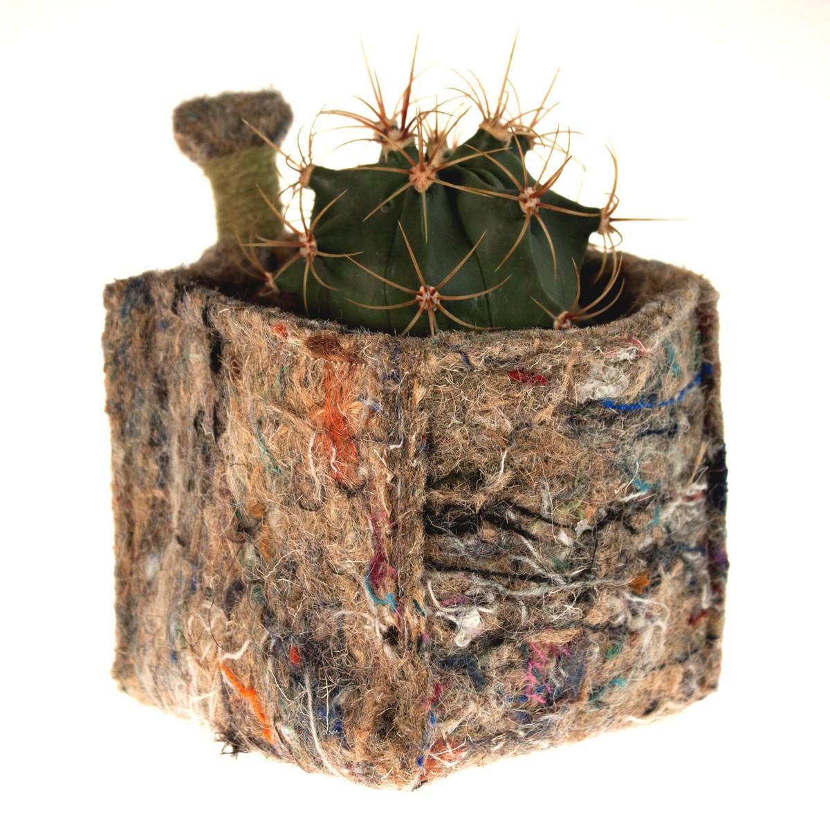Photo of Small & Green Felt Storage Cube