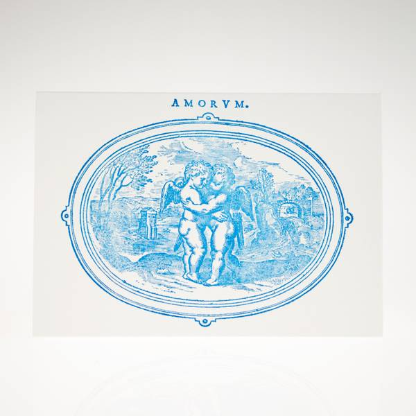 Image of Cherubs Letterpress Greeting Card