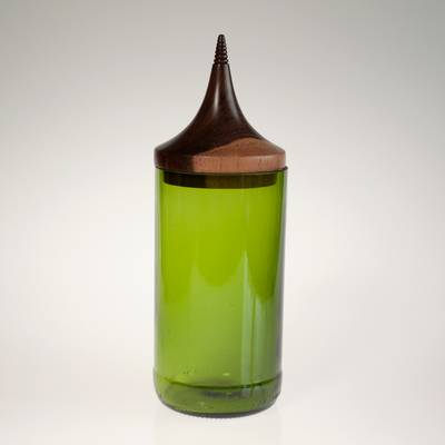 Image of Triangle Green MidMod Jar