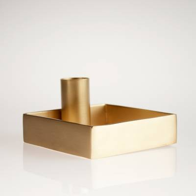 Image of Brass Candleholder