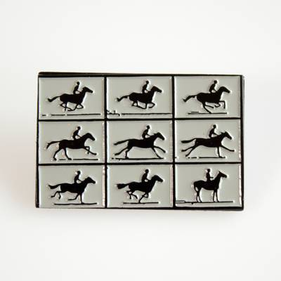 Image of Muybridge Horse in Motion Enamel Pin