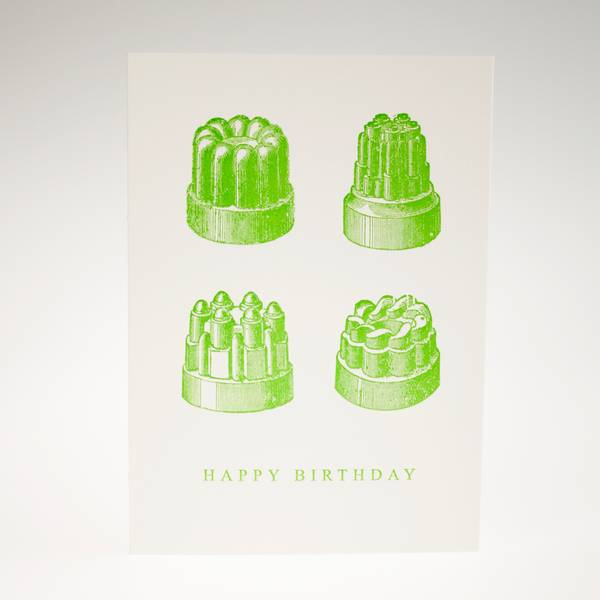 Image of Jelly Moulds Letterpress Greeting Card