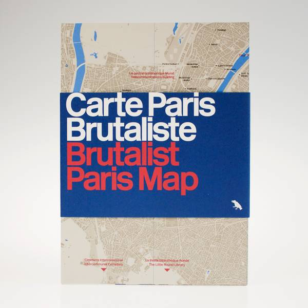 Image of Brutalist Paris Map