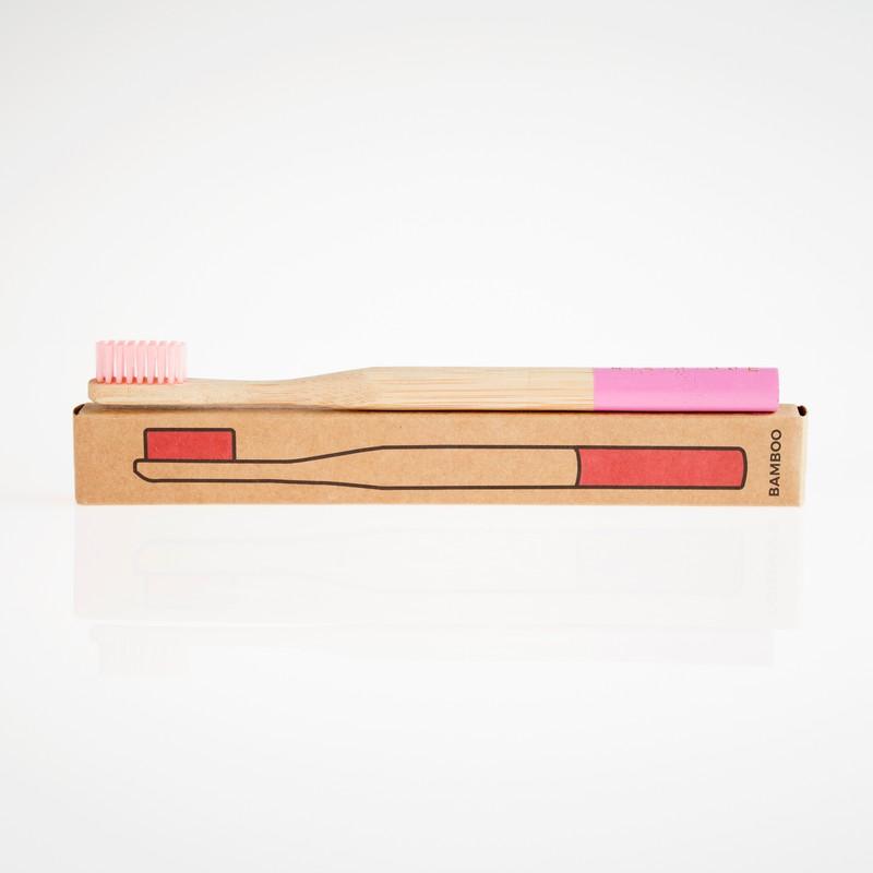 Photo of Pastel Pink Bamboo Toothbrush