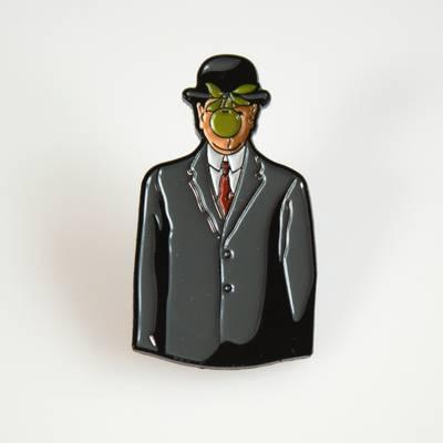 Image of Magritte Son of Man Enamel Pin