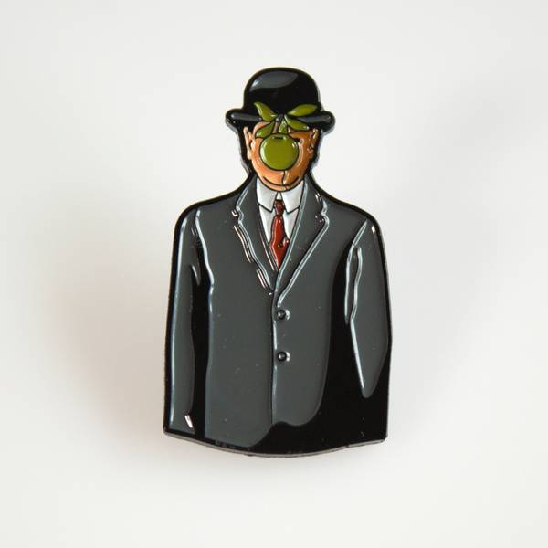 Image of Magritte Son of Man Enamel Pin
