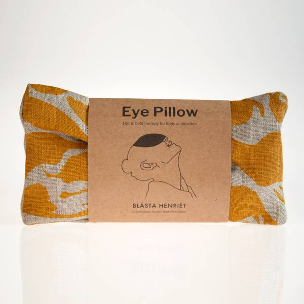 Image of Mustard Linen Eye Pillow