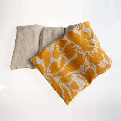 Image of Mustard Linen Hot and Cold Pack