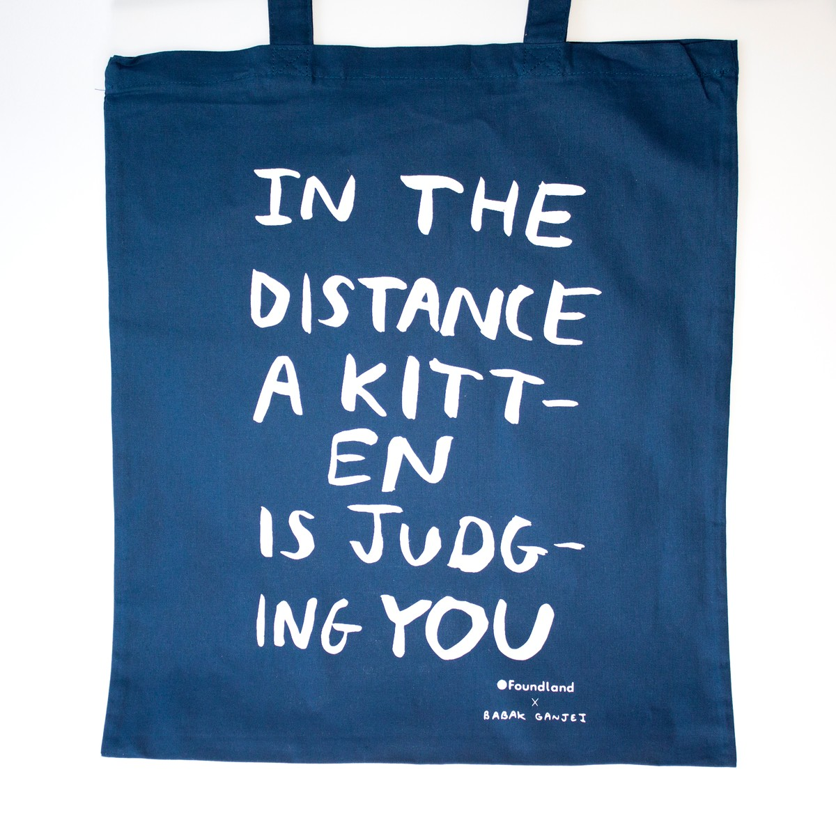 Photo of Judging Kitten Tote Bag Petrol