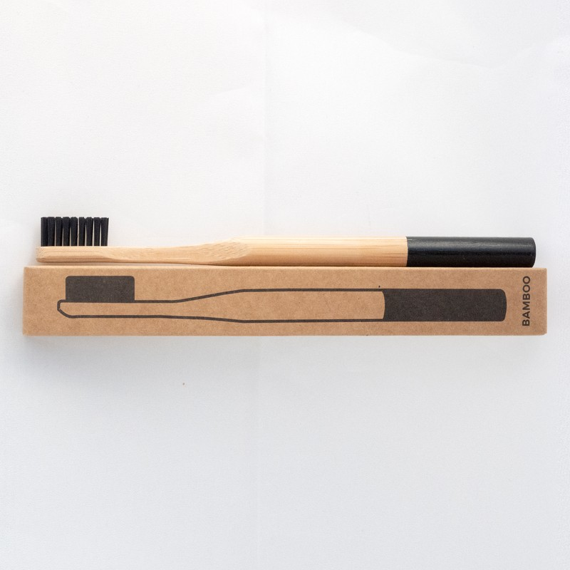Foundland Jet Black Bamboo Toothbrush