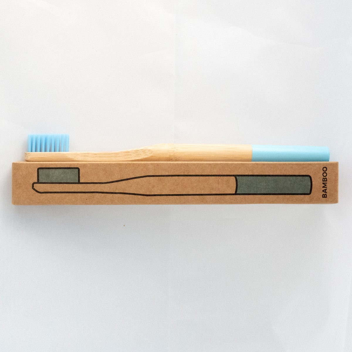Photo of Baby Blue Bamboo Toothbrush
