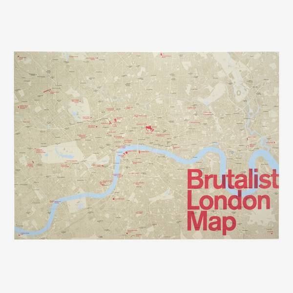 Image of Brutalist London Map: Poster Edition