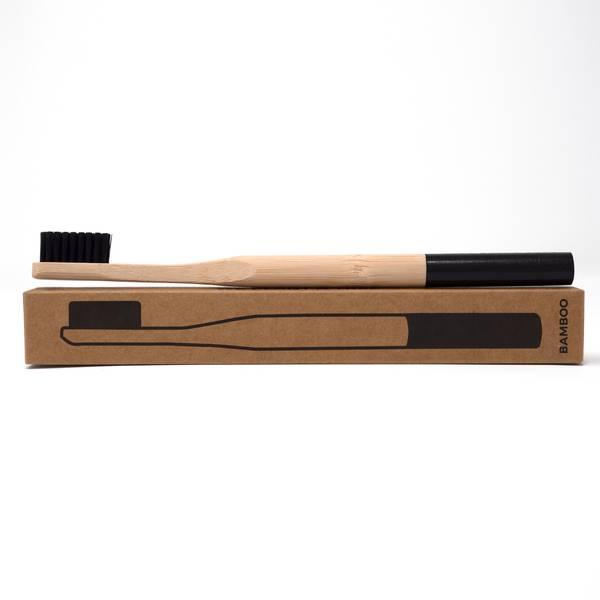 Image of Jet Black Bamboo Toothbrush