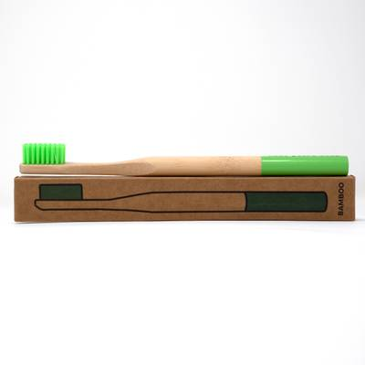 Image of Leaf Green Bamboo Toothbrush