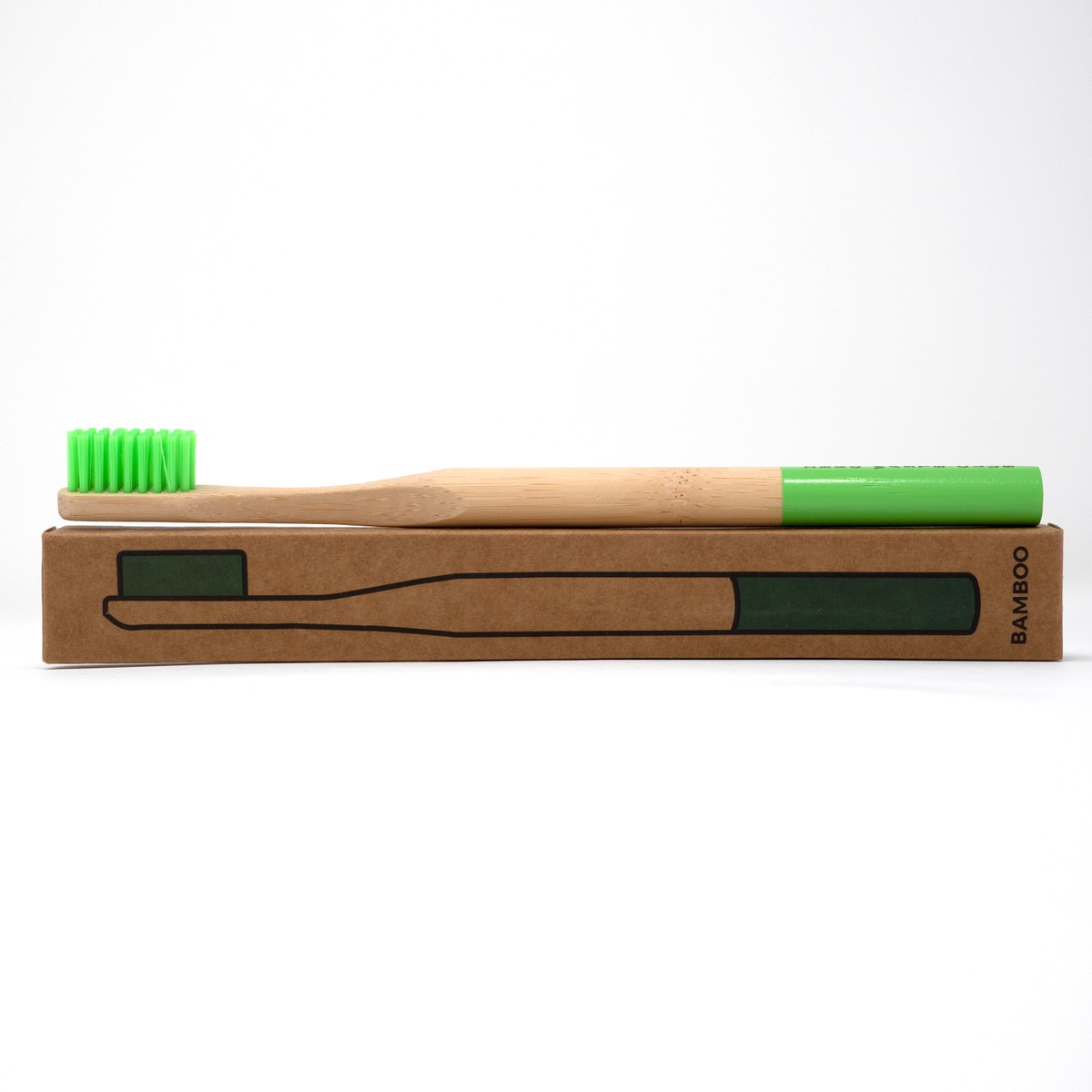 Photo of Leaf Green Bamboo Toothbrush