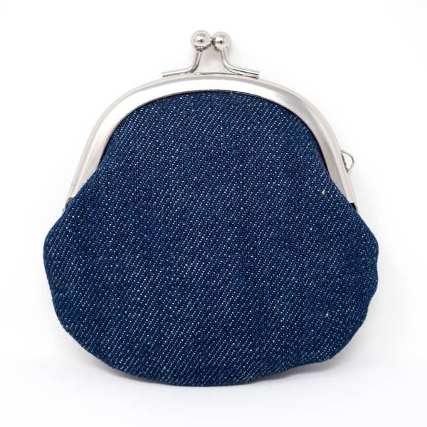 Image of Gamaguchi Coin Purse: Denim